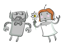 Robots in Love by mogstomp