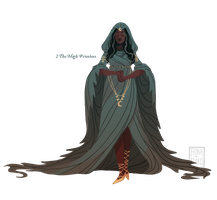 [closed] 2 - The High Priestess by fionadoesadopts