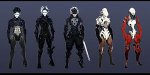 Male Assassin Roughs by ConceptualMachina