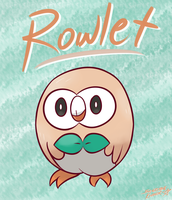 Rowlet from Pokemon Sun and Moon by Sylverstone14