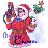 Overwatch : Meirry Christmas by ChiehChen