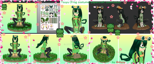 Tsuyu papercraft (FREE download) by Antyyy