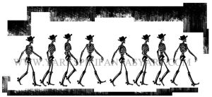 Skeleton Walk Cycle by Yarkspiri