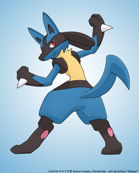Lucario - Wave Guiding Hero by RecklessKaiser