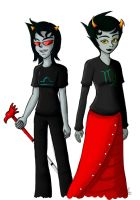 HS: Terezi and Kanaya by artisticTaurean