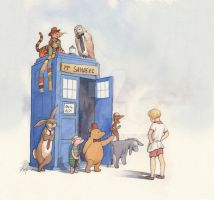Doctor Pooh by wovenlines