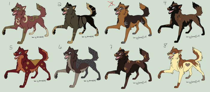 8 Adoptable Wolves1 by Bitten2007