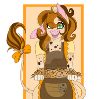 Cookie Crumbs cow  by CreativeChibiGraphic