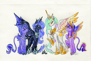 (Mlp AU) Royal Line Up... by AmberInkSpill