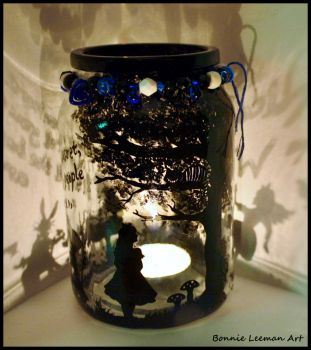Alice In Wonderland Jar by Bonniemarie