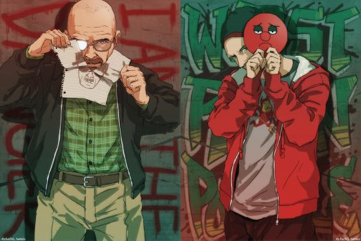 Heisenberg and Jesse Pinkman by reducto1