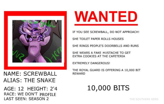 Wanted by TheSouthernNerd