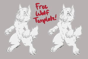 Free Chibi Wolf Base! by SmpyCookie
