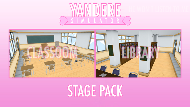 [MMD] Yandere Simulator - Stage Pack [DL] by i-see-you1