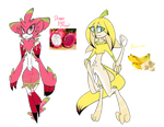 Tropical fruit Monsters Adopt flat sale (2/2 OPEN) by Miikage
