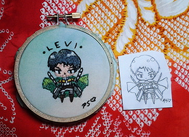 Levi Embroidery Hoop by CutiePoppers