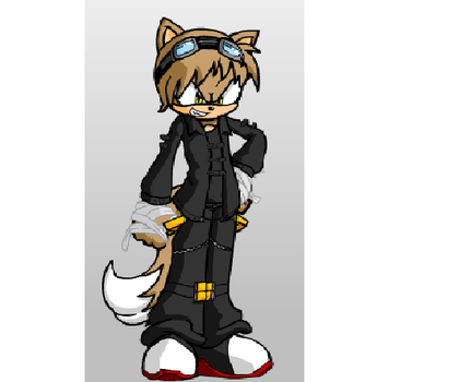My own Sonic character. Gear the Fox by 1Nickzilla1