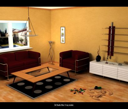 Indoor Scene by exeles
