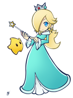 Rosalina and Luma - Puyo Puyo Art Style by CosmikArts