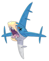 MEGA SHARPEDO by HallowDew