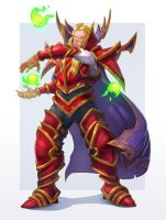 Kael'thas 1/4 colored by IlyaBond