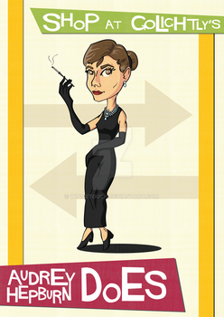 Audrey Hepburn poster by winnetouch