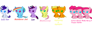 Mane 6 next generation by buttercry