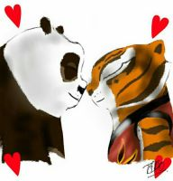 Po and Tigress [in love] by BTDN45