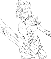 League of Legends - Riven WIP by Jope-san