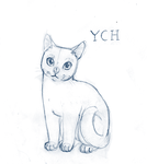 CAT YCH OPEN (digital or traditional) by Decemberflower13