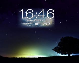 Asus Padfone 2 : Clock and Weather for Xwidget by boyzonet