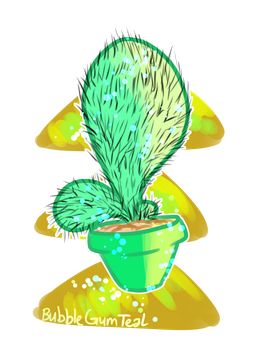 Aw cute cactus by Bubblegumteal