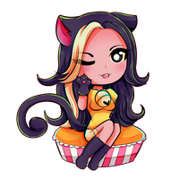 KittyKatGaming + SpeedPaint by Ivory-Ice