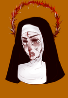 possessed nun custom for marsupial-soup by peoniee