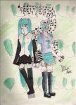 Green Haired Babes by WeirdnessMaster25