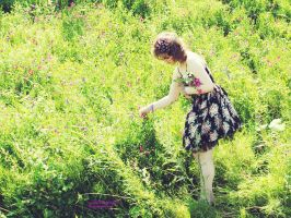 Collecting flowers by violet-funeralflower