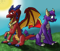 Spyro Kiddies (Art Trade) by AtomicNeon