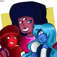 garnet ruby and sapphire by MasterAlex117
