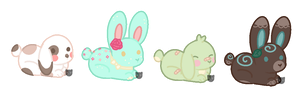 Lil' Chibi Buns [closed] by NamelessFeline