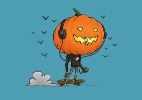 The Skater Pumpkin by nickv47