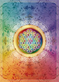 Flower of Life Postcard by Lilyas