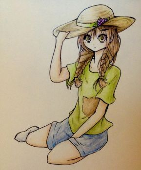 Straw hat by luko3artist