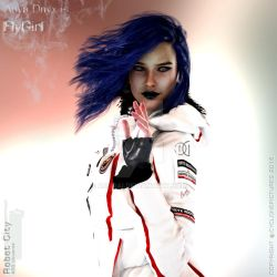 Anya Elena Onyx is Flygirl by AOGRAI