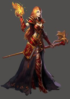 Fire mage by Beaver-Skin