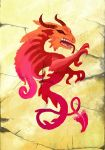 Mahjong Red Dragon by Zairaam