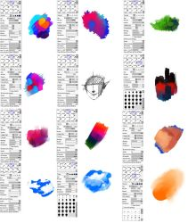 Brushes type for Paint tool SAI by ryky