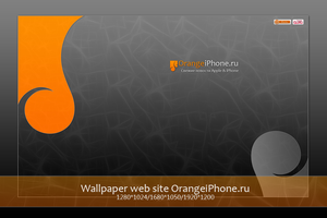 Wallpaper site OrangeiPhone.ru by Dseo