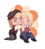 :Commission Chibi: Keiran and Waltz by LostV-A