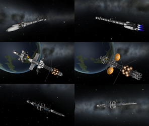 Interplanetary ships in KSP by 1Wyrmshadow1