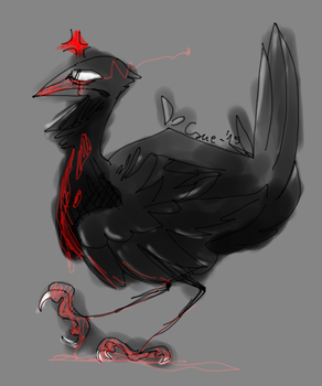 chicken crow by FelisCoco